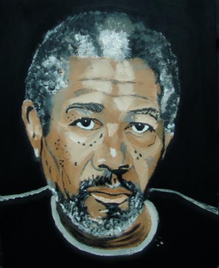 Morgan Freeman por Eskamilla